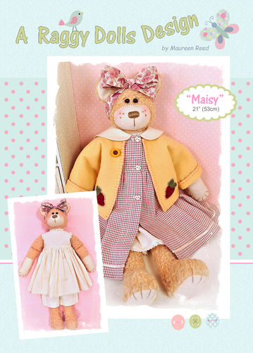 Maisy Rag Doll Bear Sewing Pattern - PDF Download