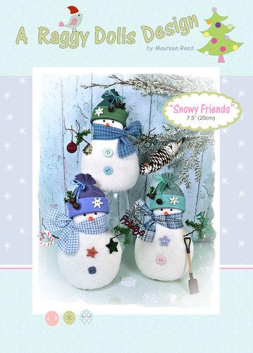 Snowy Friends Sewing Pattern - PDF Download