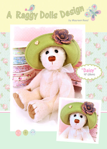 Daisy Bear Sewing Pattern - PDF Download