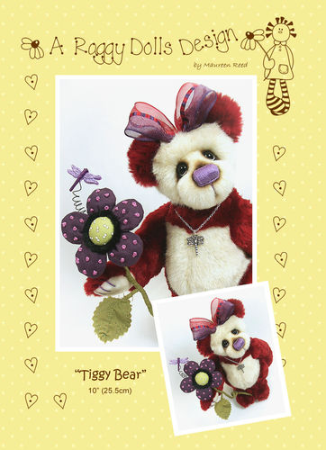 Tiggy Artist Bear Sewing Pattern - PDF Download